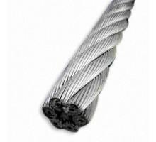 Трос стальной DIN 3052 d=1,0 мм (1x7)